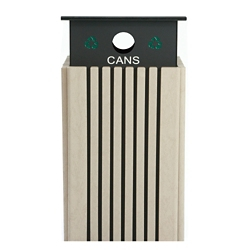 Recycling Receptacle for Cans - 40 Gallon Capacity, 82146