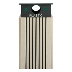 Recycling Receptacle for Plastic - 40 Gallon Capacity, 82148