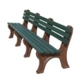 Recycled Plastic Outdoor Economy Bench with Back 8', 85153