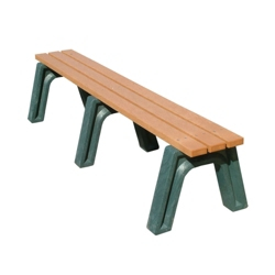 Recycled Plastic Outdoor Flat Economy Bench 6', 85154