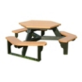 Recycled Plastic Standard Open Hexagonal Picnic Table, 85176