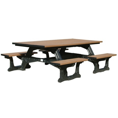 Commons Outdoor Table With Molded Frame 8u0027   ADA Accessible, 85180