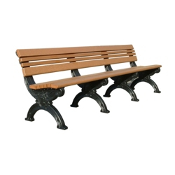 Outdoor Cambridge Bench-High Density Plastic 8', 85181
