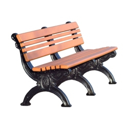 Outdoor Cambridge Bench-High Density Plastic 6', 85182