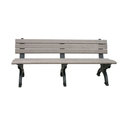 Outdoor Silhouette Bench-High Density Plastic 6', 85184