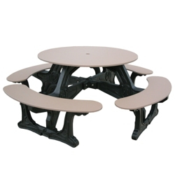 Cantina Style Recycled Plastic Picnic Table, 85313