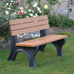 Deluxe Recycled Plastic Bench with Back 4', 85314