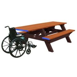 Ada accessible tables find wheelchair height desks for your ada accessible recycled plastic deluxe picnic table 8 85321 watchthetrailerfo