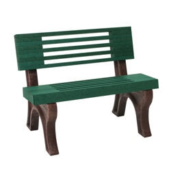 Elite Recycled Plastic Park Bench with Back 4', 85322