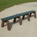 Landmark Recycled Plastic Backless Bench 8', 85332