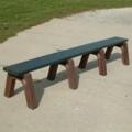 Landmark Recycled Plastic Backless Bench 8', 85332