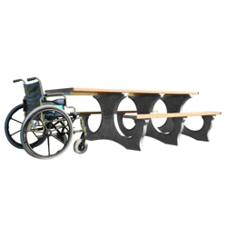 Easy Access ADA Accessible Recycled Plastic Picnic Table, 85373