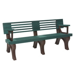 Outdoor Bench with Backrest and Arms - 6 ft, 85832