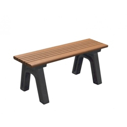 Recycled Plastic Outdoor Flat Bench - 4 Ft, 87773