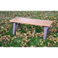 Recycled Plastic Economy Outdoor Bench - 4 Ft, 87778