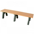 Recycled Plastic Economy Outdoor Bench - 6 Ft, 87780