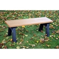 Recycled Plastic Outdoor Flat Bench - 4 Ft, 87784