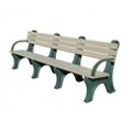 Recycled Plastic Outdoor Bench with Arms - 8 Ft, 87792