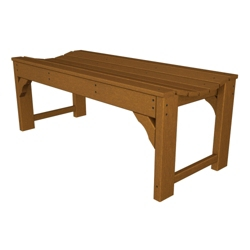 """Traditional Garden 48"""" Backless Bench, 85091"""