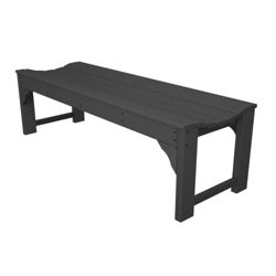 "Traditional Garden 60"" Backless Bench, 85092"