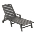 Nautical Wheeled Chaise with Arms, 85439