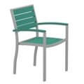 Euro Dining Arm Chair in Vibrant Colors, 85532