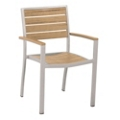 Euro Dining Arm Chair in Plastique Teak, 85533