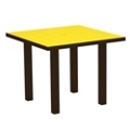 "Euro Dining Table 36"" Sq in Vibrant Colors, 85575"
