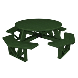 "Round Top Octagonal Picnic Table 54"", 85671"