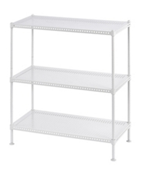 "Perforated Three Shelf Steel Shelving 24"" W x 12"" D x 28"" H, 37035"