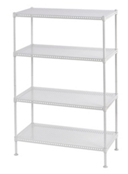 """Perforated Four Shelf Steel Shelving 24"""" W x 12"""" D x 35"""" H, 37036"""