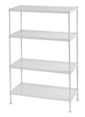 "Perforated Four Shelf Steel Shelving 24"" W x 12"" D x 35"" H, 37036"