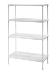 "Perforated Four Shelf Steel Shelving 30"" W x 14"" D x 47"" H, 37037"