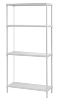 "Perforated Four Shelf Steel Shelving 35"" W x 14"" D x 71"" H  , 37038"