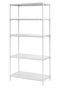 "Perforated Five Shelf Steel Shelving 35"" W x 18"" D x 71"" H, 37039"