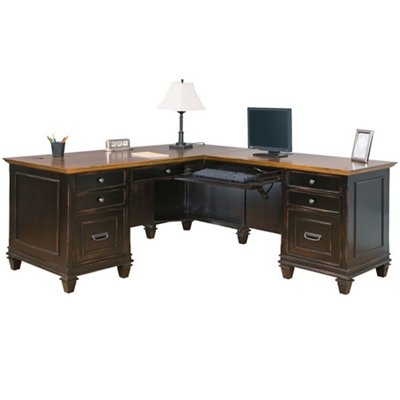 Two Tone L Desk With Right Return, 14064