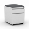 "15""W  Two Drawer Mobile File Pedestal with Cushion, 34081"