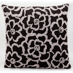 "kathy ireland by Nourison Stitched Flower Square Pillow - 18 x 18"", 82266"