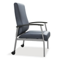 Compass High Back Guest Chair with Arms and Casters, 76520