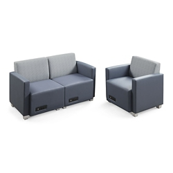 Compass Loveseat and Armchair, 76566