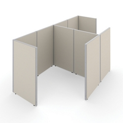 "63""H Panels Only 1x2 Work Stations 72""x72"" Each, 22538"