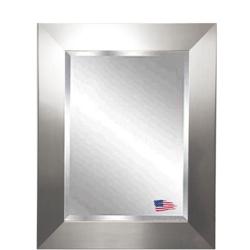 "25.5""H X 21.5""W Beveled Glass Silver Frame Wall Mirror, 87407"