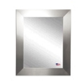 "25.5""H x 21.5""W Round Edge Silver Frame Mirror, 87417"