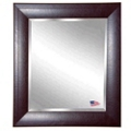 "45.7""H x 39.7""W Leather Frame Beveled Mirror, 87427"