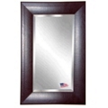 "35.7""H x 23.7""W Leather Frame Beveled Mirror, 87428"