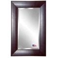 "35.7""H x 23.7""W Leather Frame Beveled Mirror, 87428"