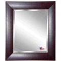 "37.7""H x 33.7""W Leather Frame Beveled Mirror, 87432"