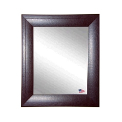 "26""H x 22""W Leather Frame Wall Mirror, 87433"