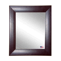 "33""H x 27""W Leather Frame Wall Mirror, 87434"