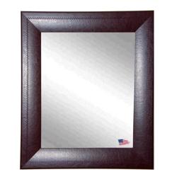 "36""H x 30""W Leather Frame Wall Mirror, 87435"